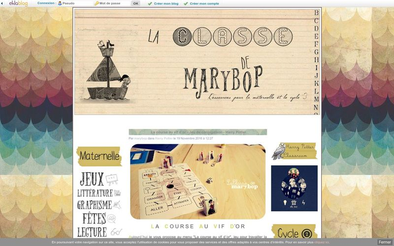 La course au vif d´or - Jeu de conjugaison - Harry Potter - La Classe de Marybop