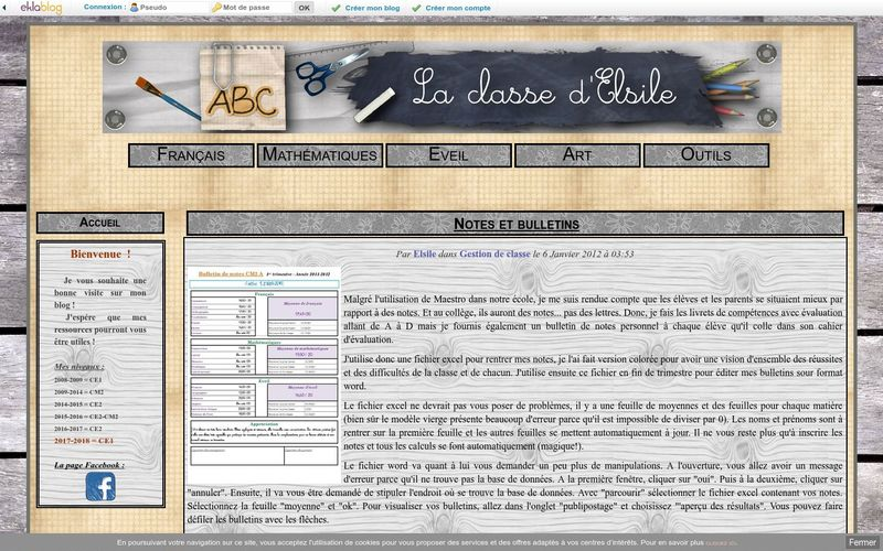 La classe d'Elsile : Notes et bulletins